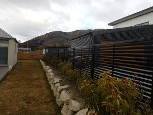 black-colour-slat-fence