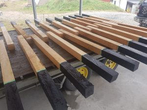 prepping the posts