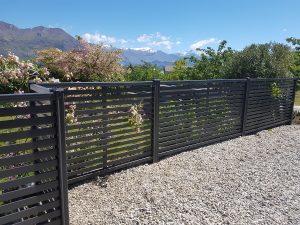 modern style fence by urban fencing wanaka