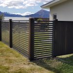 Cedar Gate with Colour Slat Fence