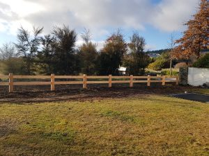 Post and Rail with Rabbit Proofing